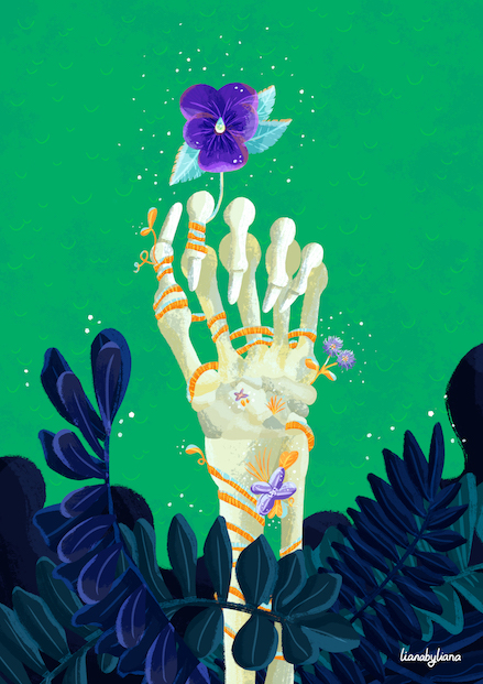 Nature > Human : illustrated by Liana Wright