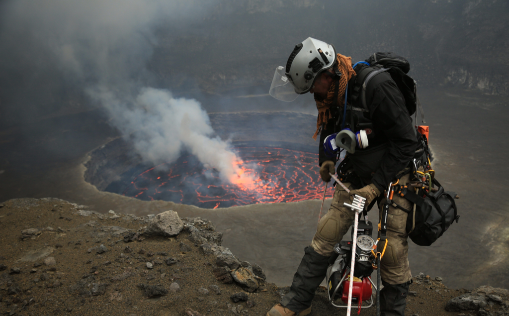 NYIRAGONGO. - Nyiragongo is located in the Democratic Republic of Congo, Africa. It is the largest lava lake on the planet and rewards the people who venture with the spectacle of a 1.2 km wide crater and a body of lava 100 meters across.Huts are provided on the summit and we even provide the option of sleeping 300 meters inside the active volcano. Giving the chance to follow famous explorers and to observe the lava lake at night as its crust moves like tectonic plates.
