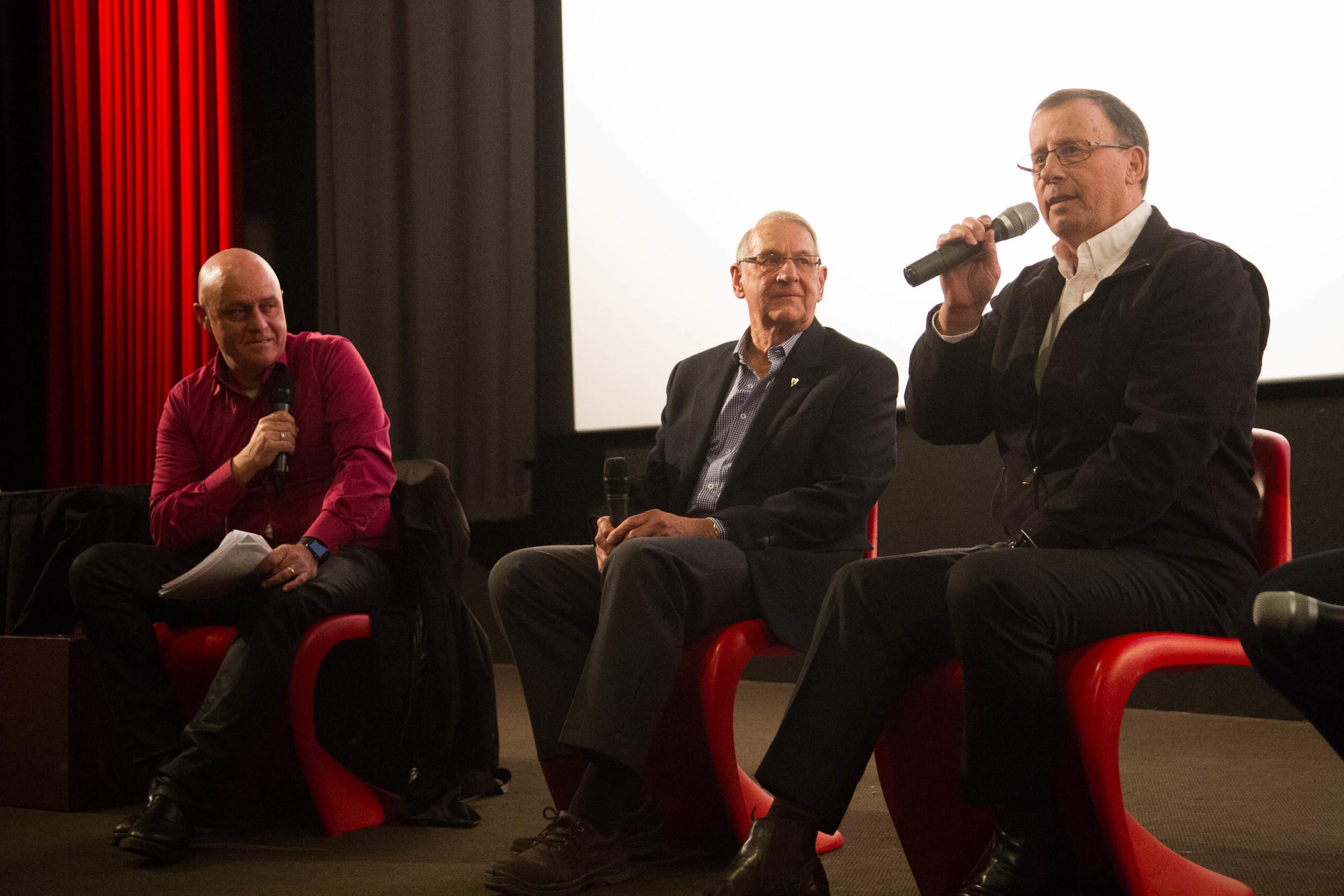 Francis Leach hosting post screening panel with Hassa Mann and Bob Keddie  (  © Michael Fink)