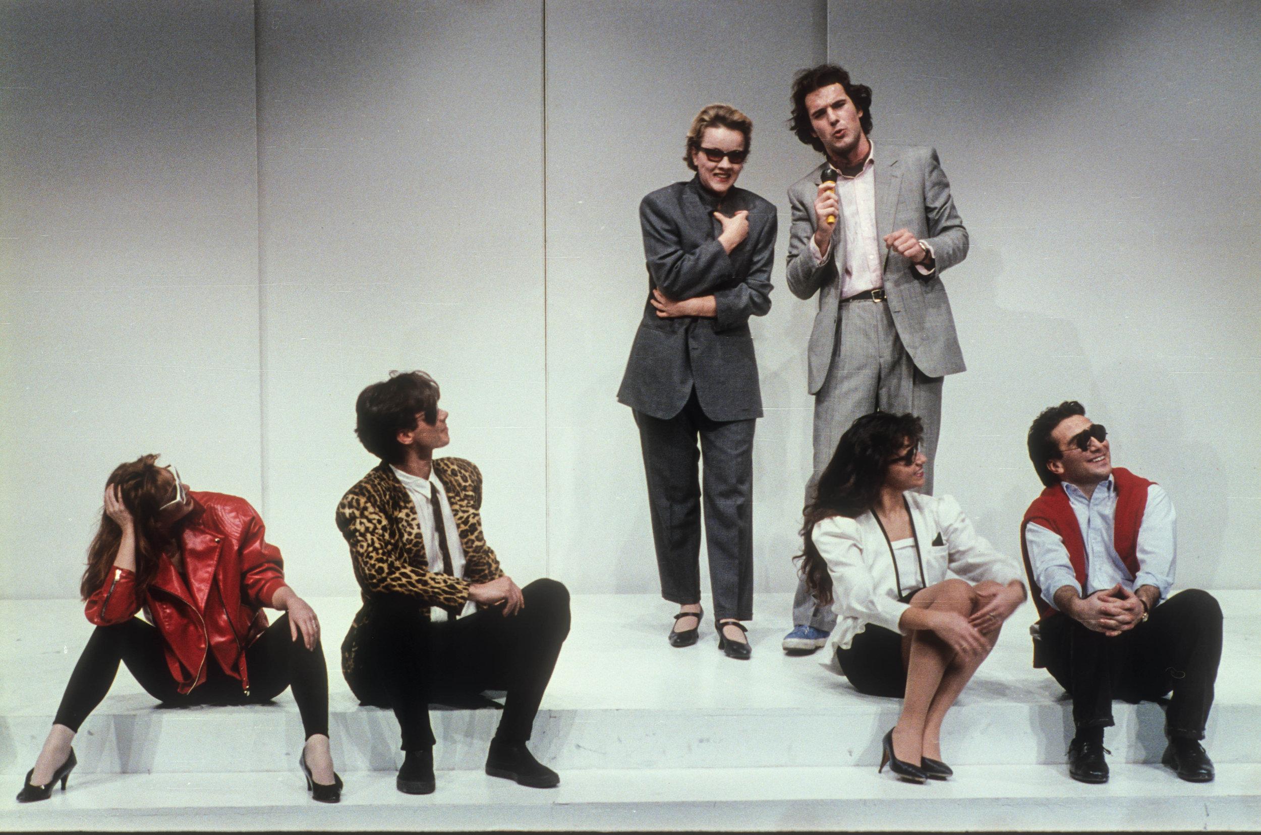 Kessy Canta - P. Eliseo1989 - da sinistra: Mirta Pepe, Daniele Giarratanar, Lucilla Lupaioli, Marco Vallarino, Angela Mezzanotti e Bruno Maccallini