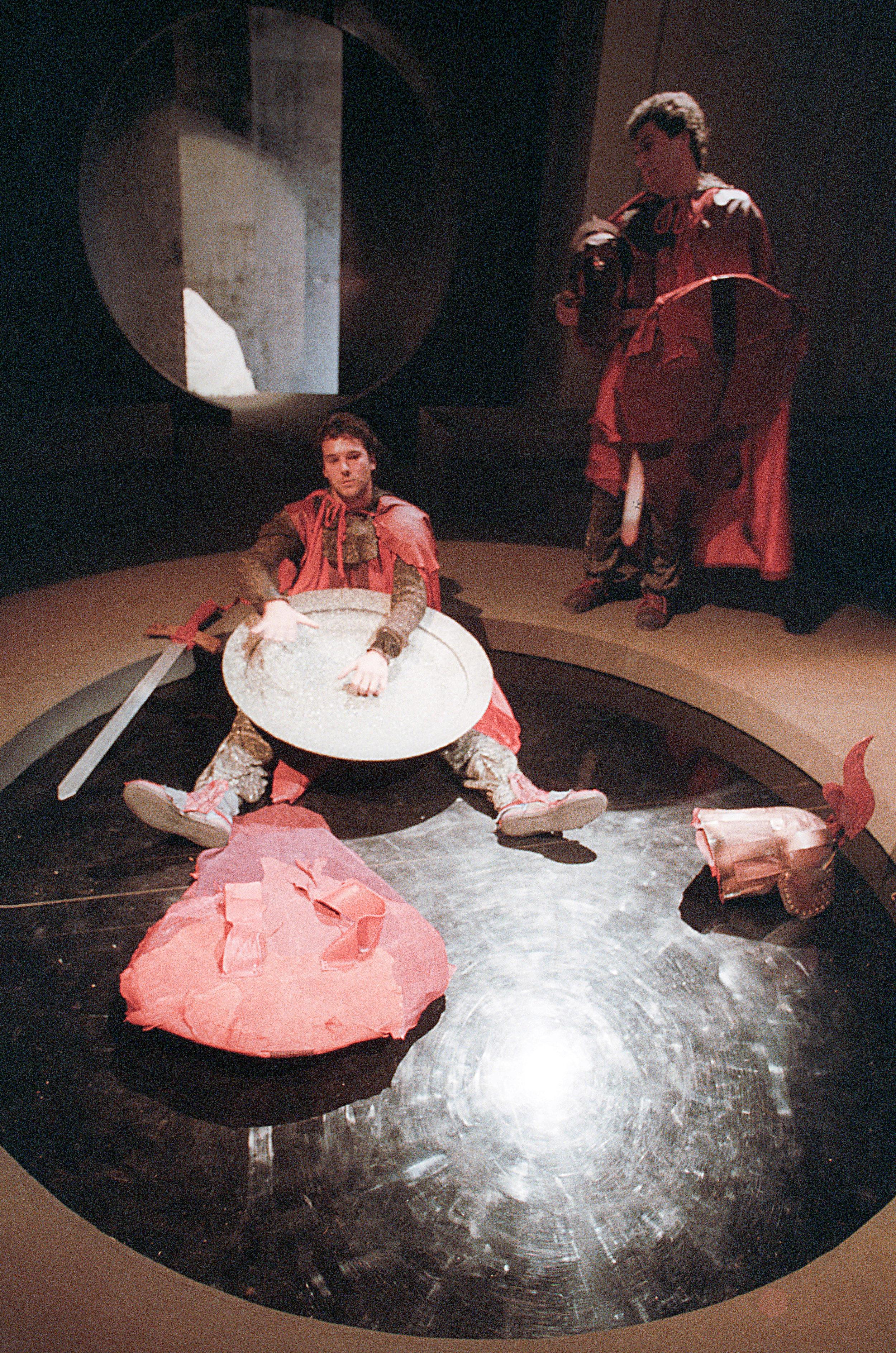 """Nel ruolo di Von Stein in """"Katchen von Heilbronn"""" , con Enzo Labor - regia Lorenzo Salveti 1987"""