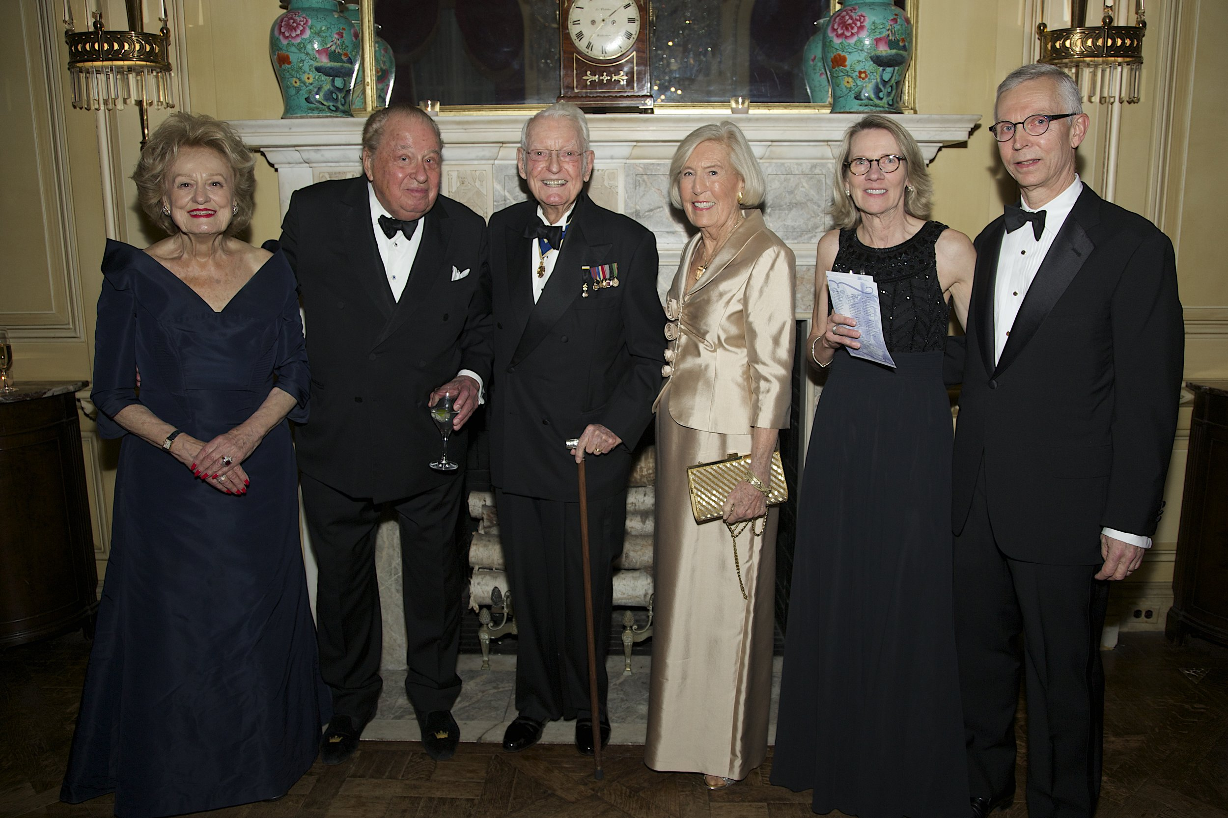 (From left) Elizabeth and Stanley DeForest Scott, Mr. F. Daniel Le Vert Coleman, Ingeborg Coleman, Mrs. Joan Norfleet, and Mr. Christopher Norfleet, Second Vice President, SRNY.