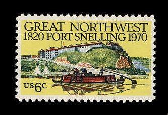 David K. Stone, 6c Fort Snelling Single, stamp, 1970. National Postal Museum.