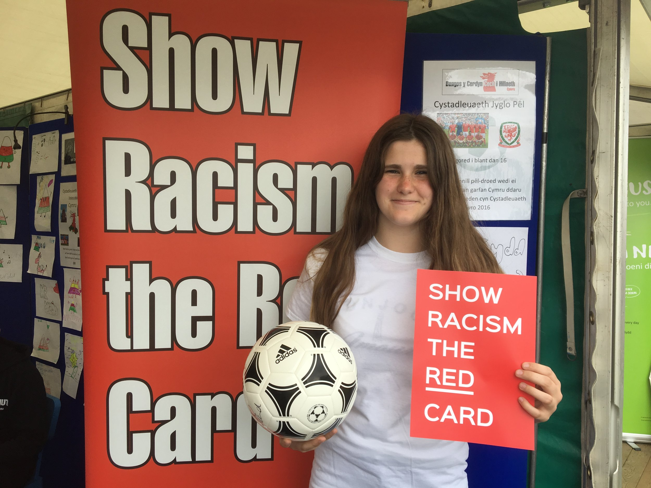 Keepy Uppy competition Winner Becca with her prize