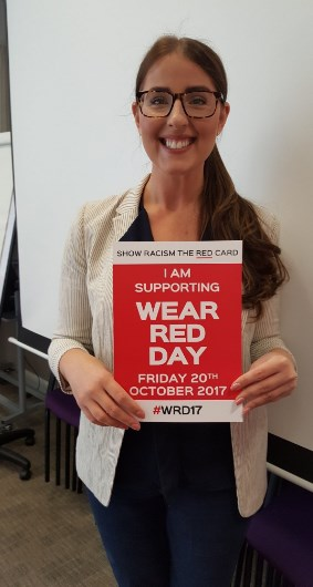 Laura Pidcock MP supporting Wear Red Day 2017