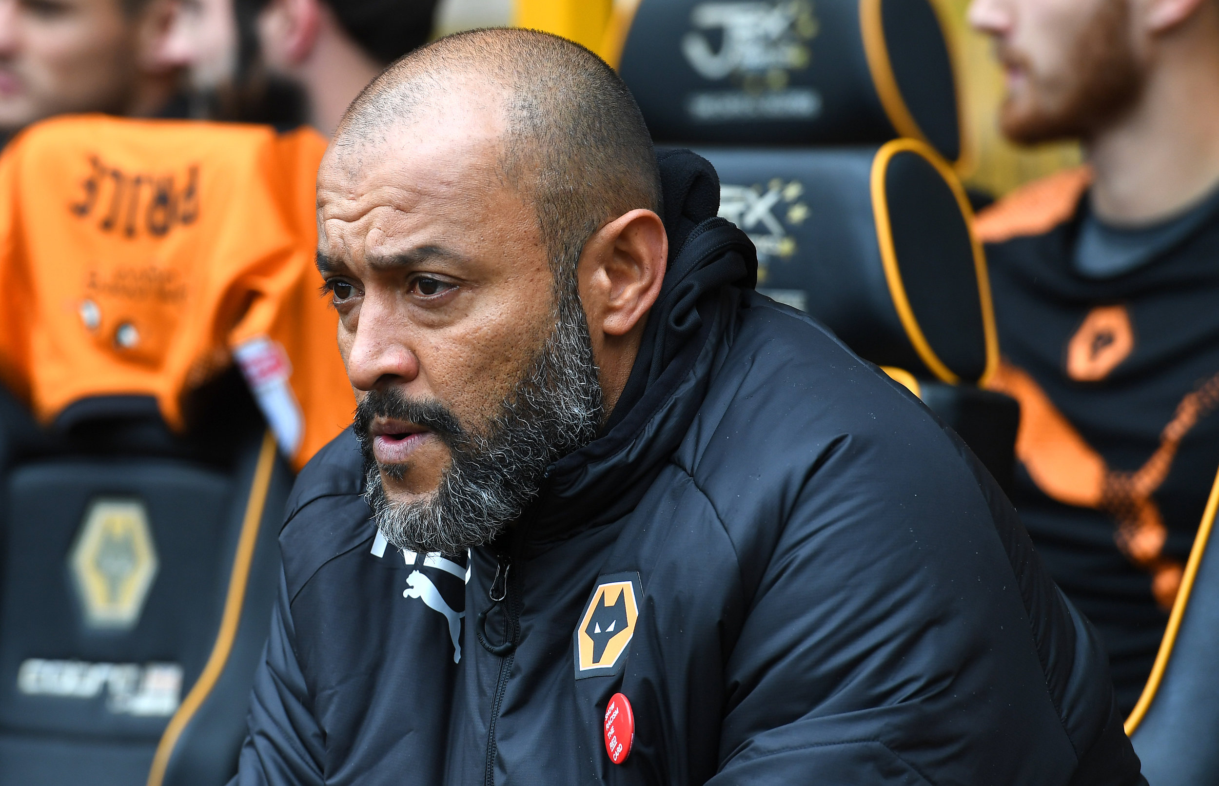 WWFC Manager,Nuno Espírito Santo, wears a SRtRC badge in support of the campaign