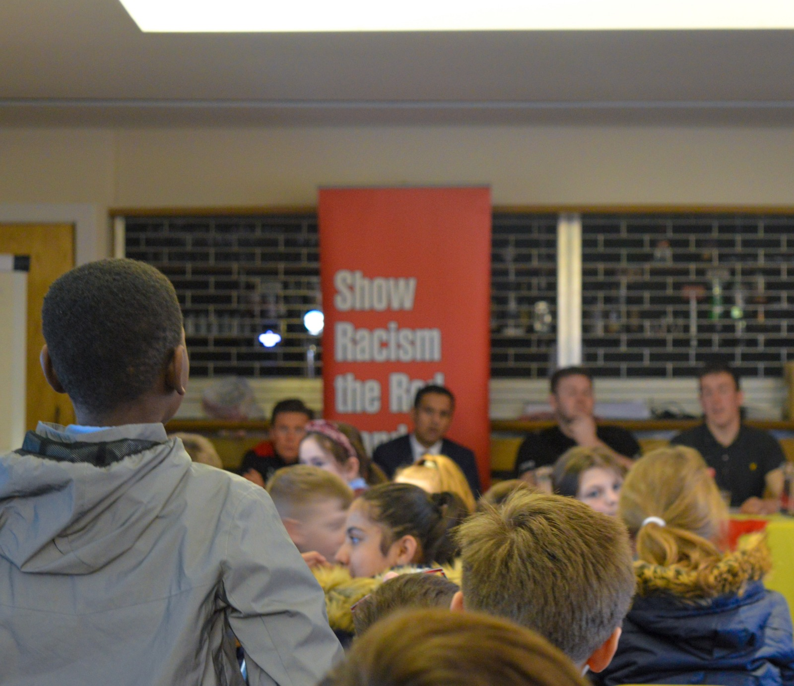Show Racism the Red Card Partick Thistle school event
