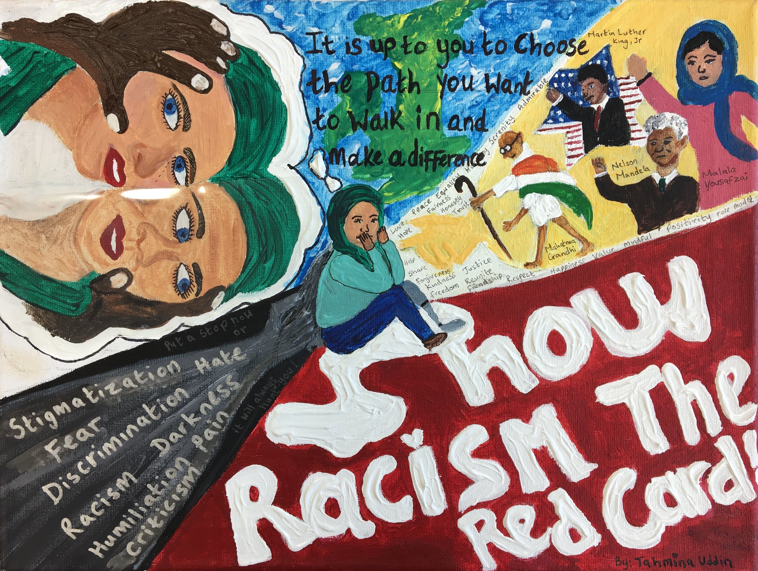 Tahmina Uddin - Olchfa Comprehensive School - Swansea - Poster Design Secondary Education Category