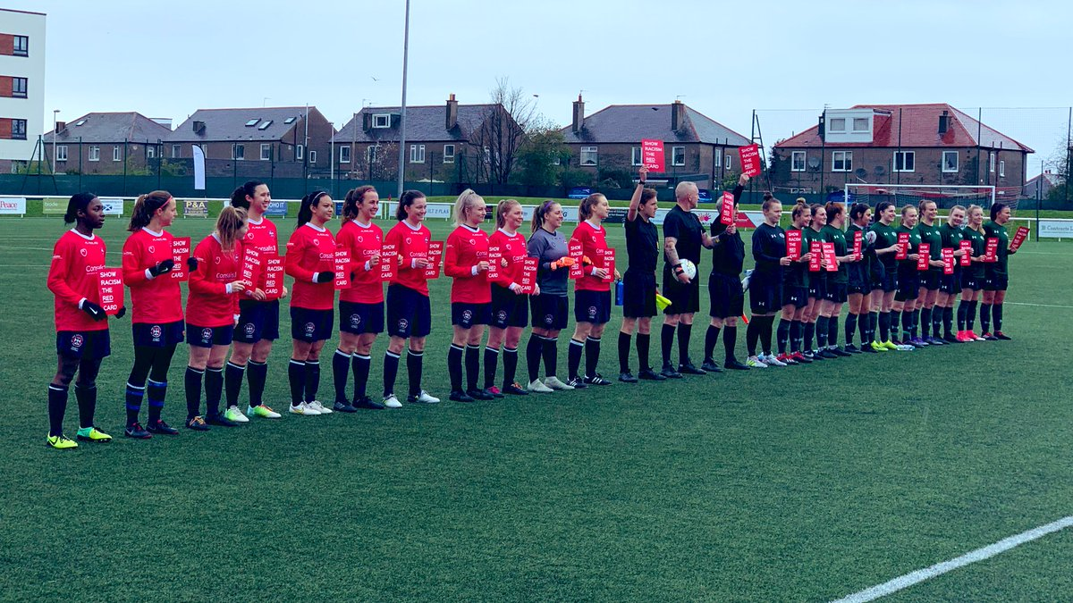 Edinburgh Uni & Stirling Uni Show Racism the Red Card for the Scottish Students' Women's Cup Final 2019