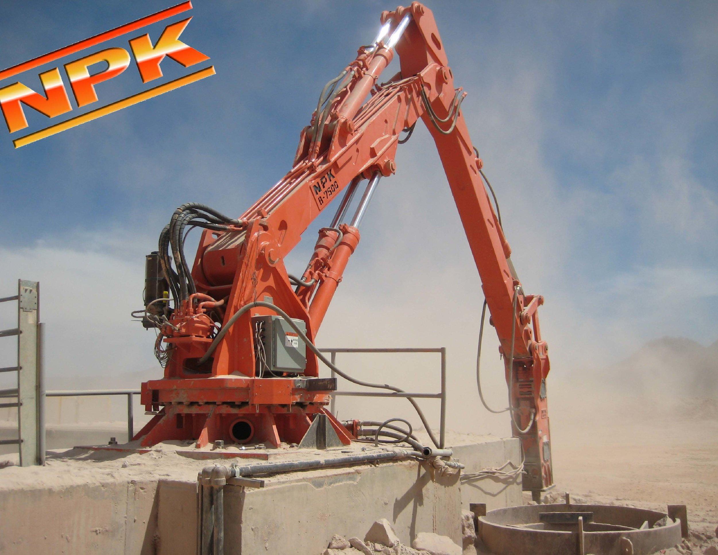 NPK B7500 pedestal boom system with GH10 hydraulic hammer-rock.jpg