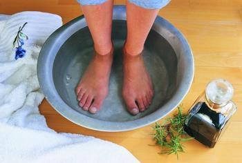 Fußbad mit natron