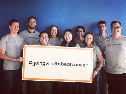 """As an Oncorus team, we are going viral to beat cancer! Our mission is to realize the full promise of oncolytic viruses for cancer patients and are excited to support DFCI/Jimmy Fund Walk to conquer cancer together."""" #oncorus #oncoruslife #jimmyfundwalk #goingviraltobeatcancer  https://danafarber.jimmyfund.org/goto/Oncorus"""