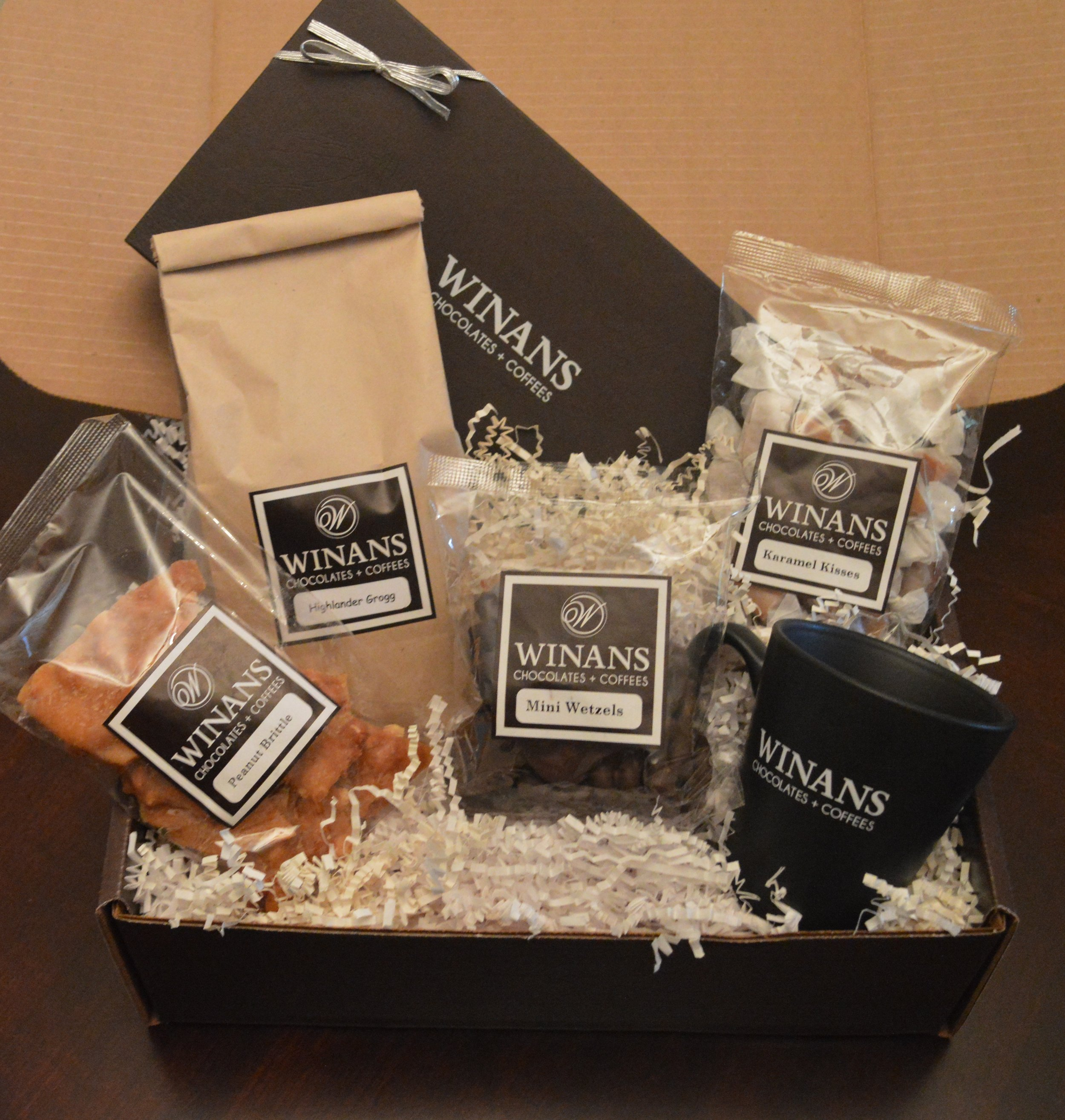 Shippable Gift Boxes - Prices range from $20 to $100 and up.  You can customize your box, or even add your logoed items.
