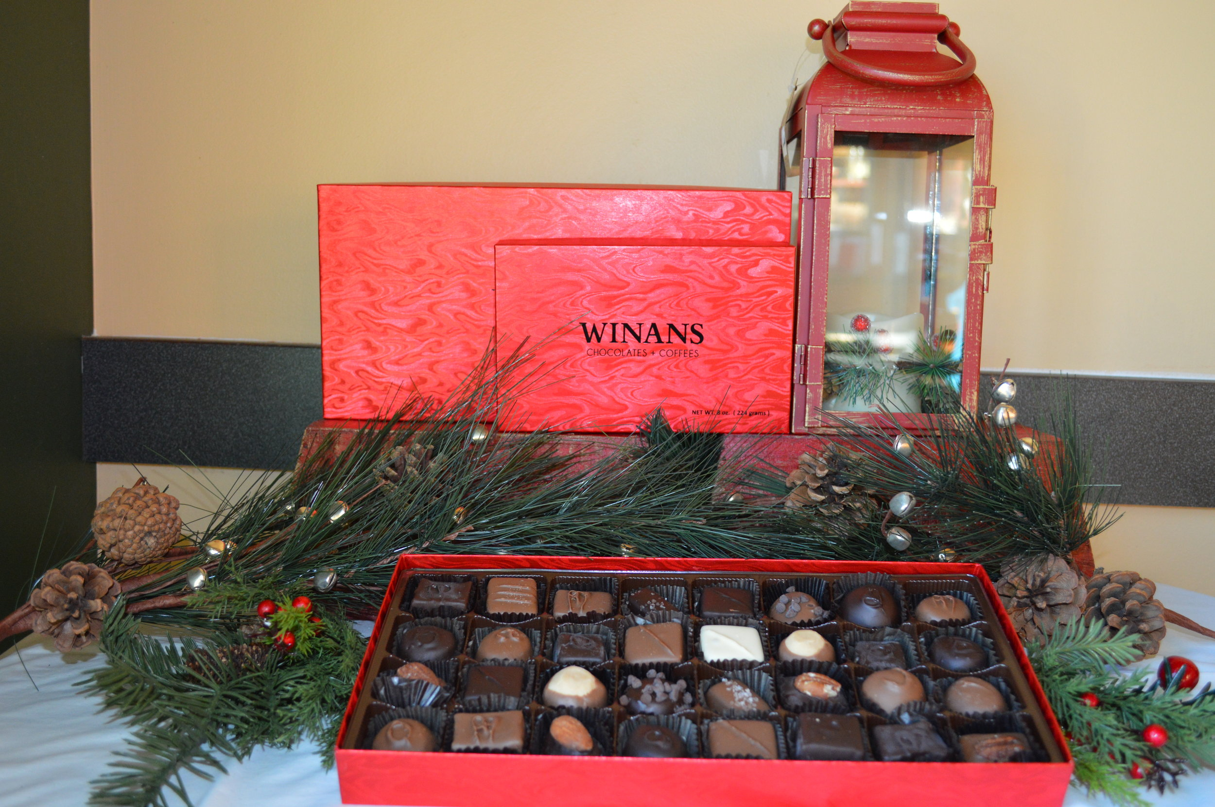 Assorted Chocolate Boxes - Prices range from $6 to $85 and up.  Choose what you want in the box, or just do a full assortment of all of our chocolates.