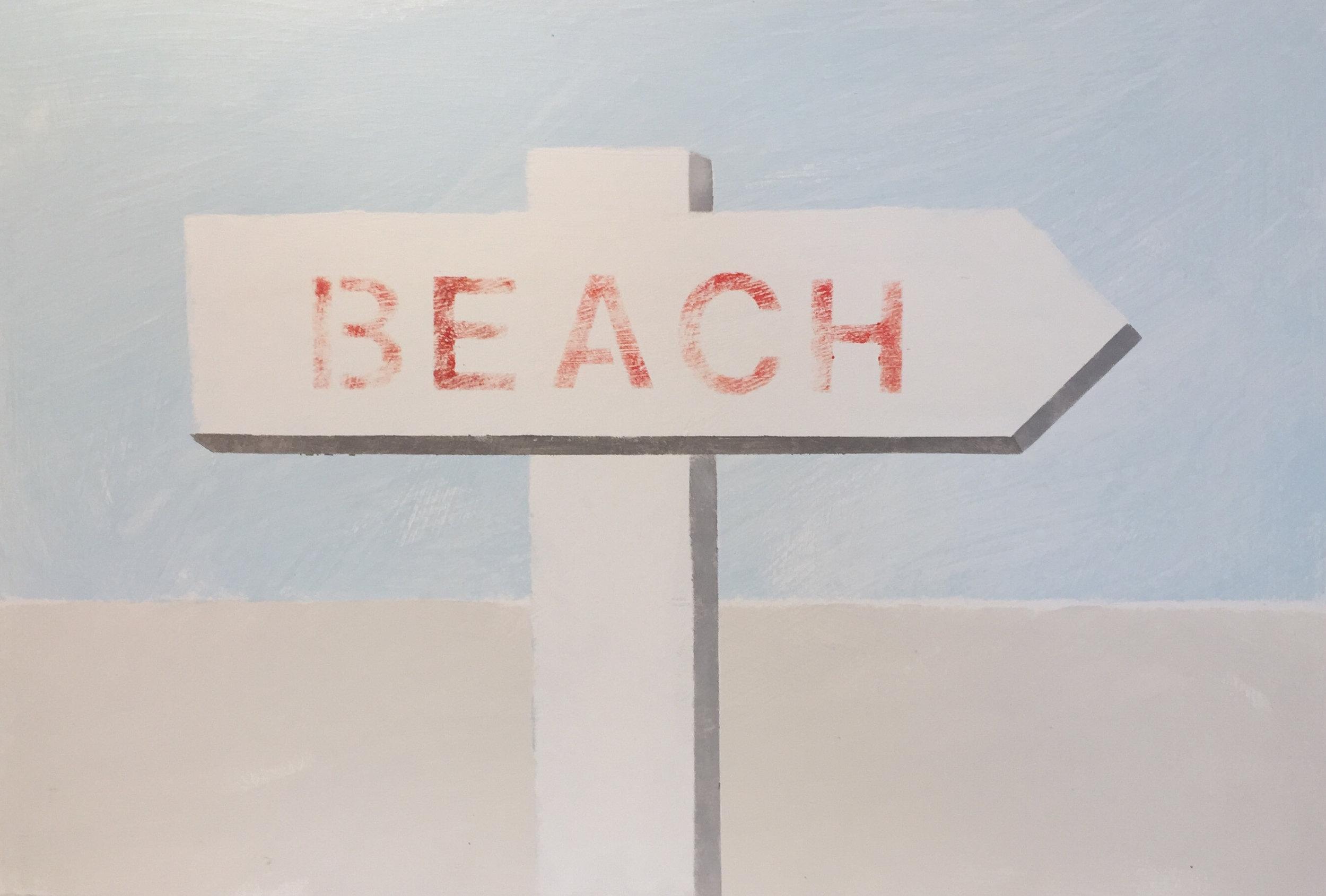 "BEACH 12"" x 18"" | SOLD"