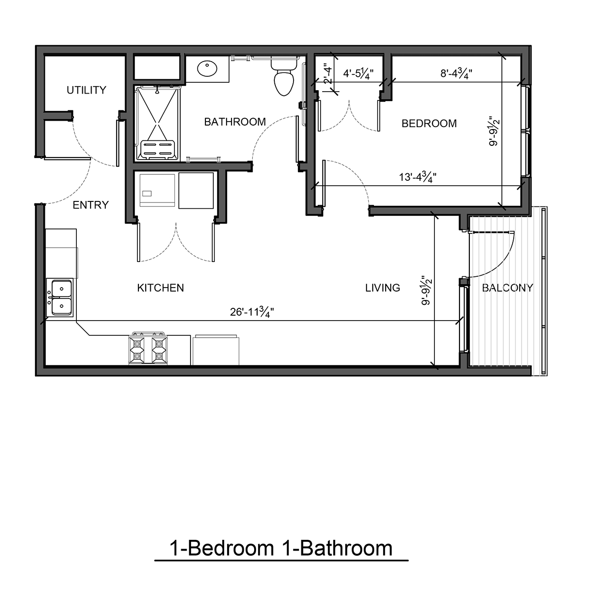 1 Bedroom with Dimensions (002).jpg