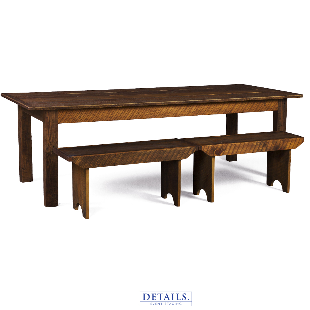 "BARN TABLE — 92"" X 40"" (HEIGHTS: 30"" OR 42"")"