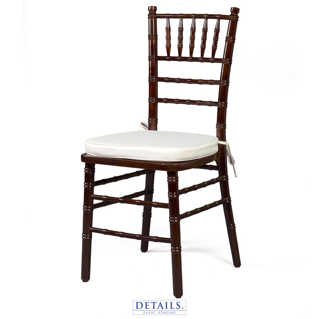 WALNUT CHIAVARI CHAIR — AVAILABLE WITH IVORY, WHITE, OR NAVY CUSHIONS