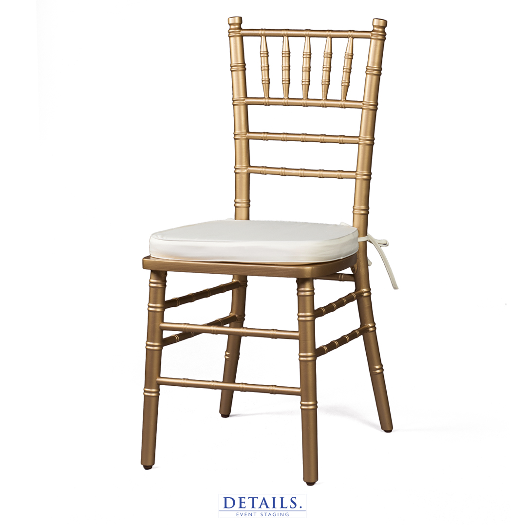 GOLD CHIAVARI CHAIR — AVAILABLE WITH IVORY, WHITE, OR NAVY CUSHIONS
