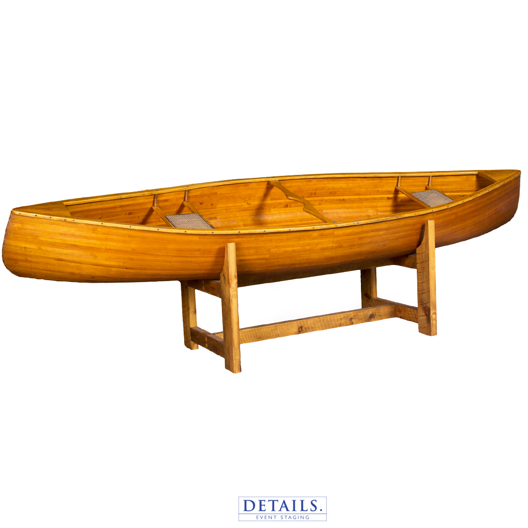 RUSTIC BEER CANOE — INCLUDES STAND