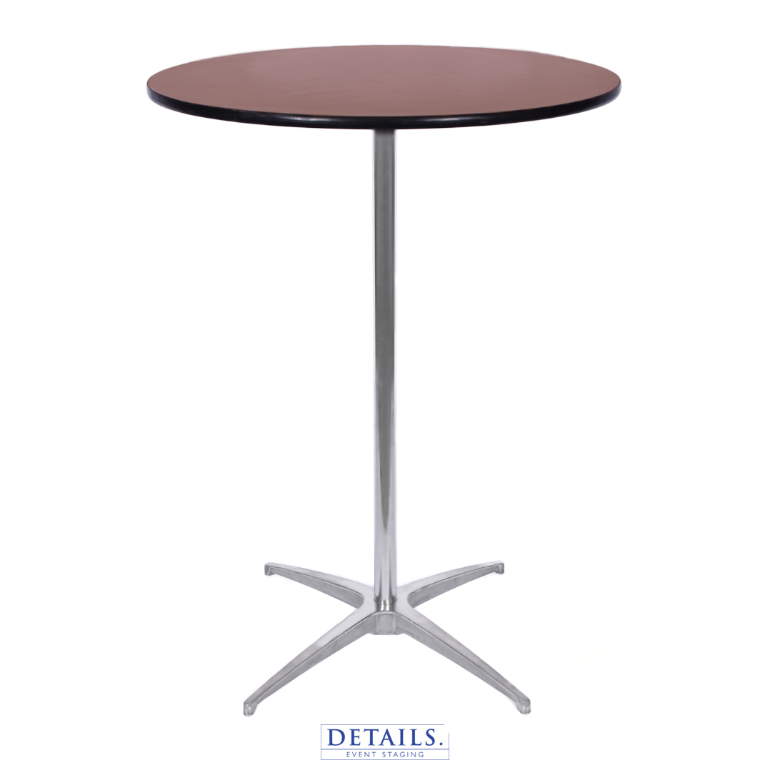 """COCKTAIL TABLE — 30"""" DIAMETER (HEIGHTS: 30"""" OR 42"""")"""