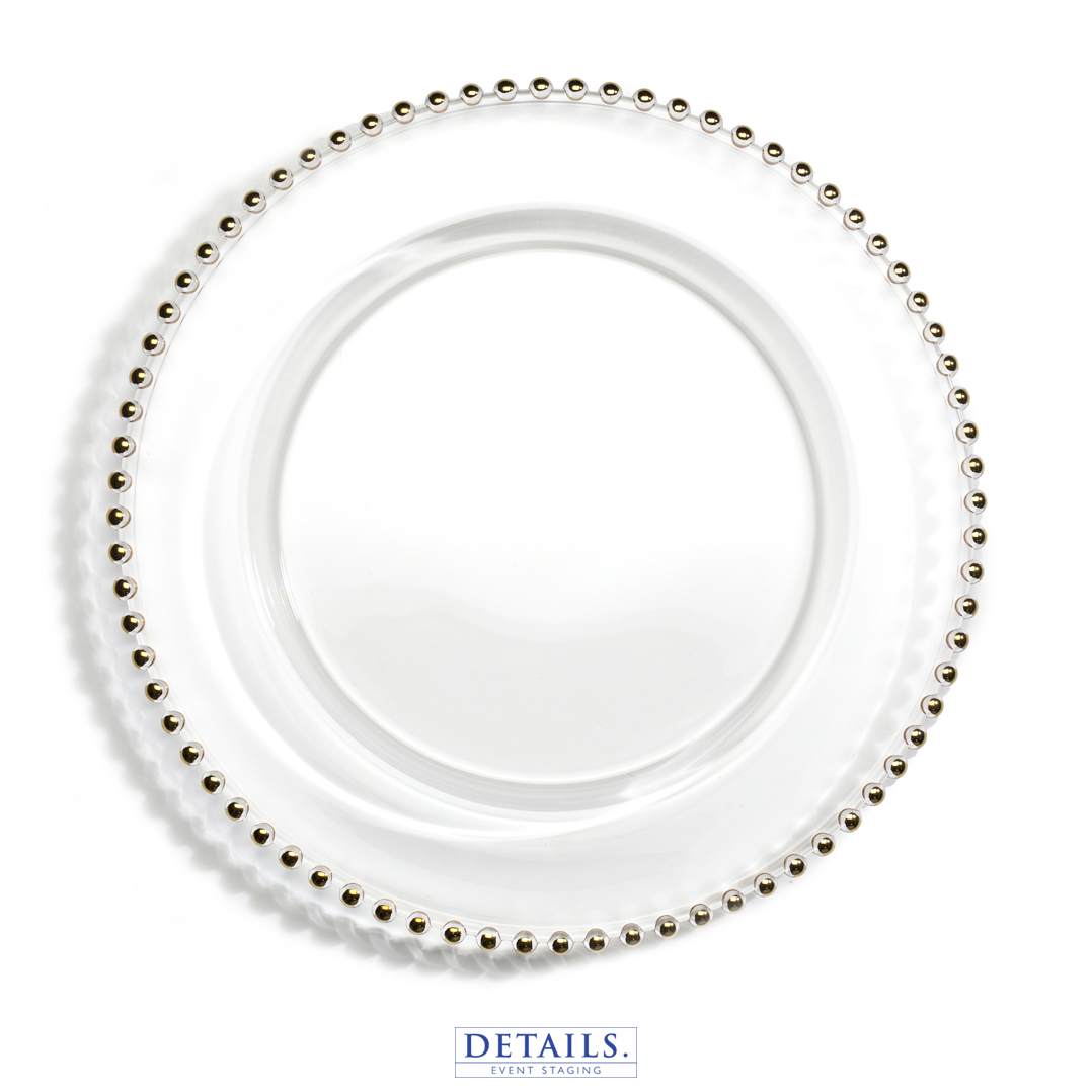 JESTER CHARGER — GOLD BEADED PLATE