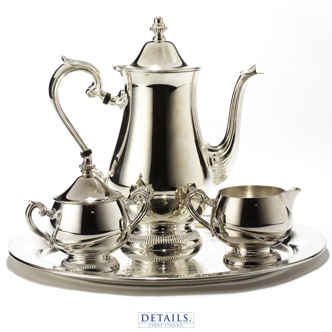 TEA SERVICE — SILVER TEA SET