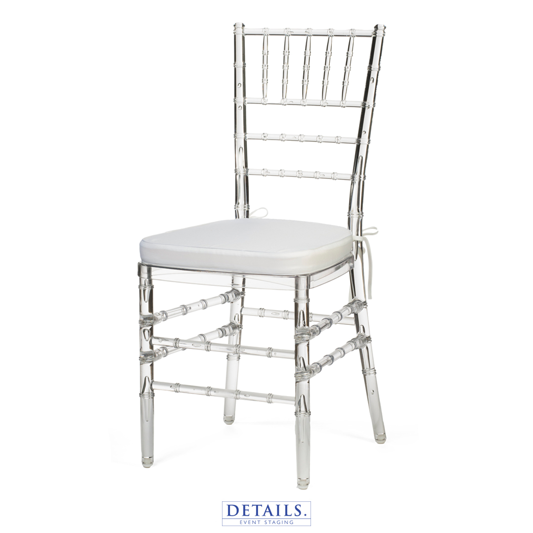 Crystal CHIAVARI CHAIR — AVAILABLE WITH IVORY, WHITE, OR NAVY   CUSHIONS