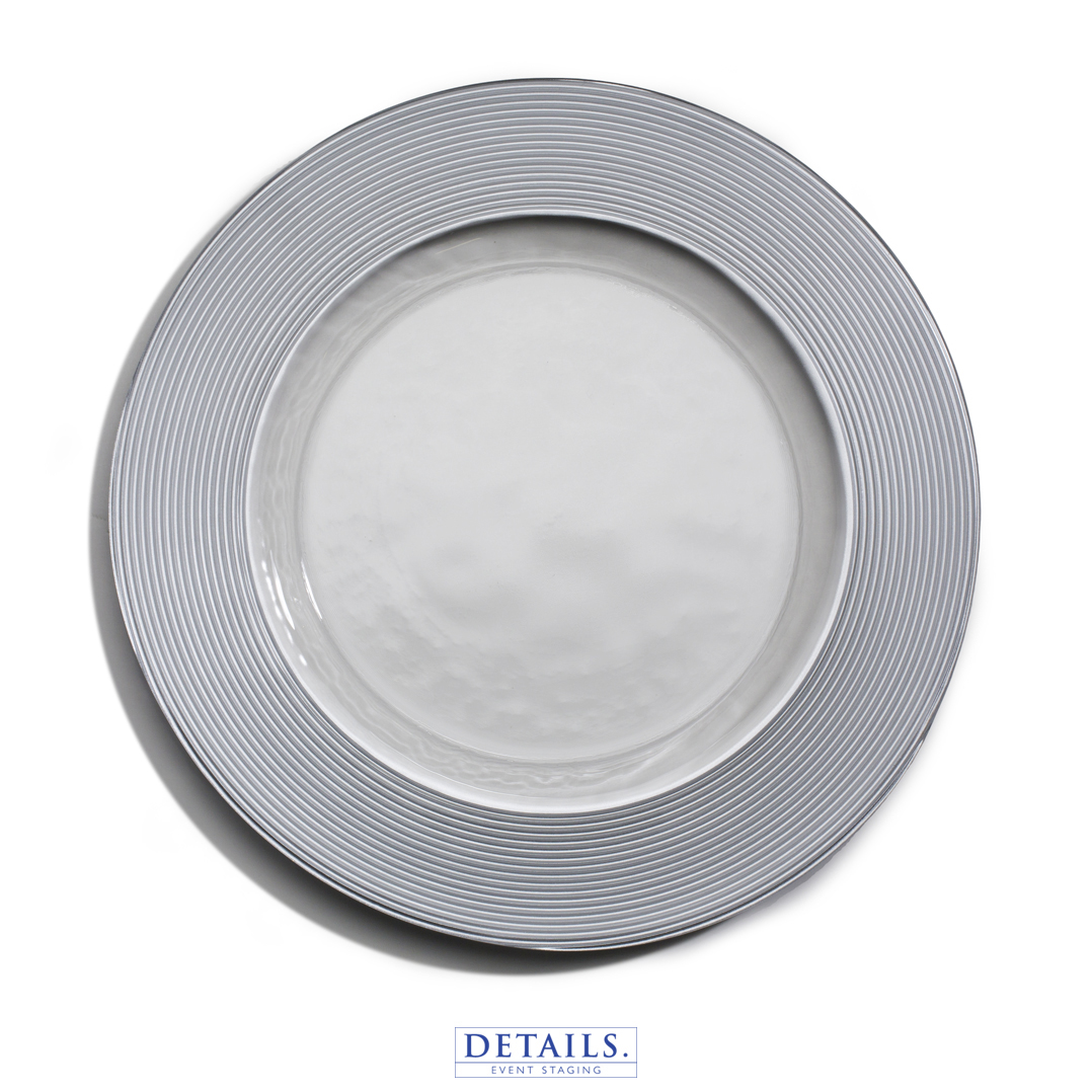Saturn Charger — Silver Rim Plate