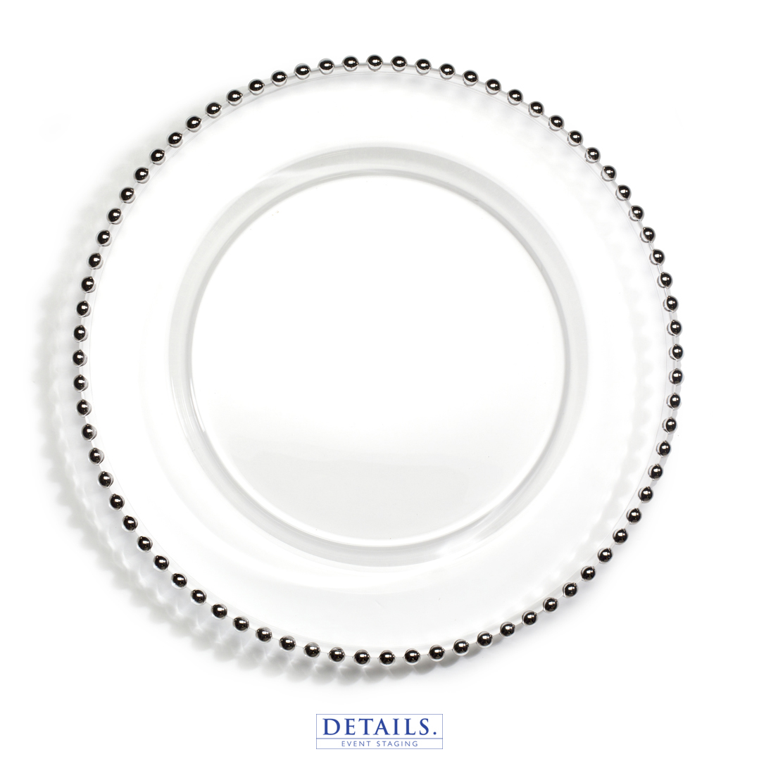 Jester Charger — Silver Beaded Plate