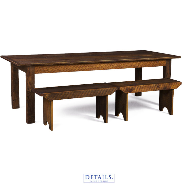 Rustic Barn Wood Table Rental for Weddings and Events in Maine
