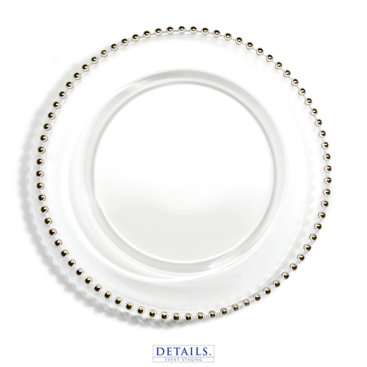 Gold Jester Charger Plate