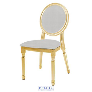Louis XV Chair - Available with white or gold cushions