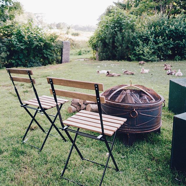 Campfires and cozy birds at a recent event on a working farm. 🤗�
