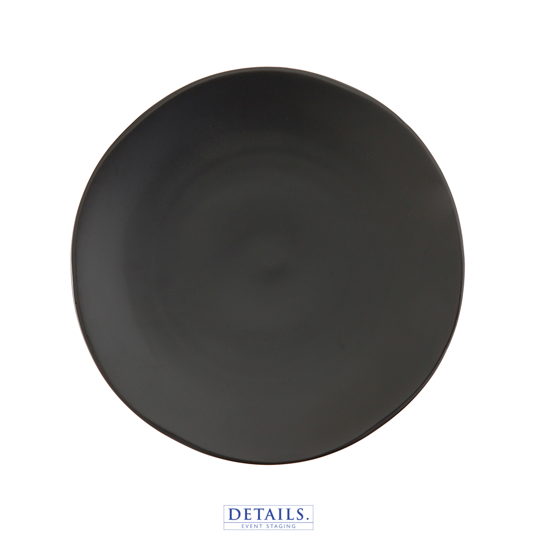 HEIRLOOM CHARCOAL PLATE - ORGANIC FORM, MATTE FINISH, AVAILABLE IN DINNER SIZE