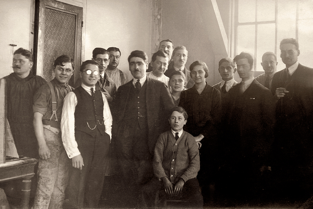 Fernand Bussière and his team in 1927