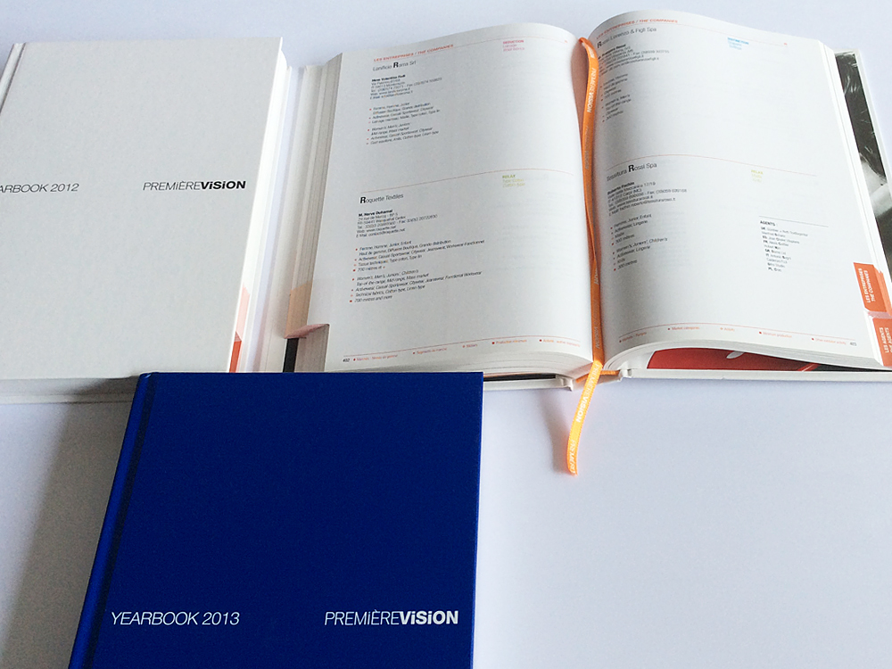 Catalogue with thumb index