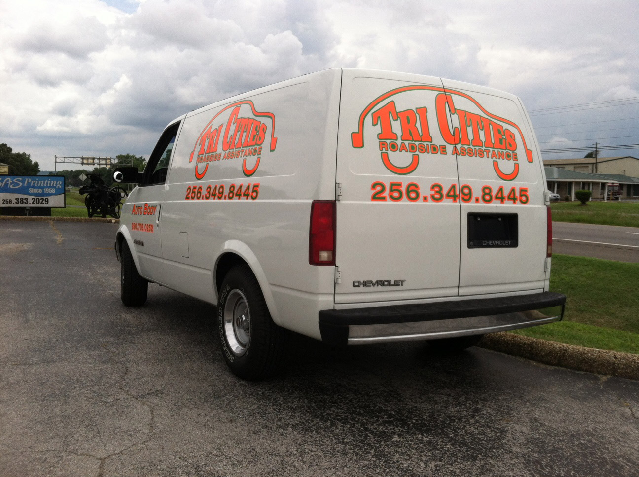 Company Vehicle Lettering