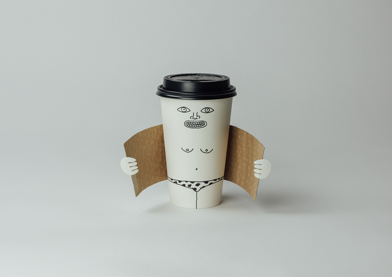 Exhibitionist coffee cup (Dismaland version)