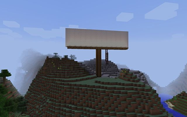 billboards in minecraft (2014) #tbt