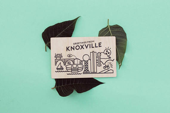 Greetings From Knoxville Wood Postcard  - Kate Made • $6