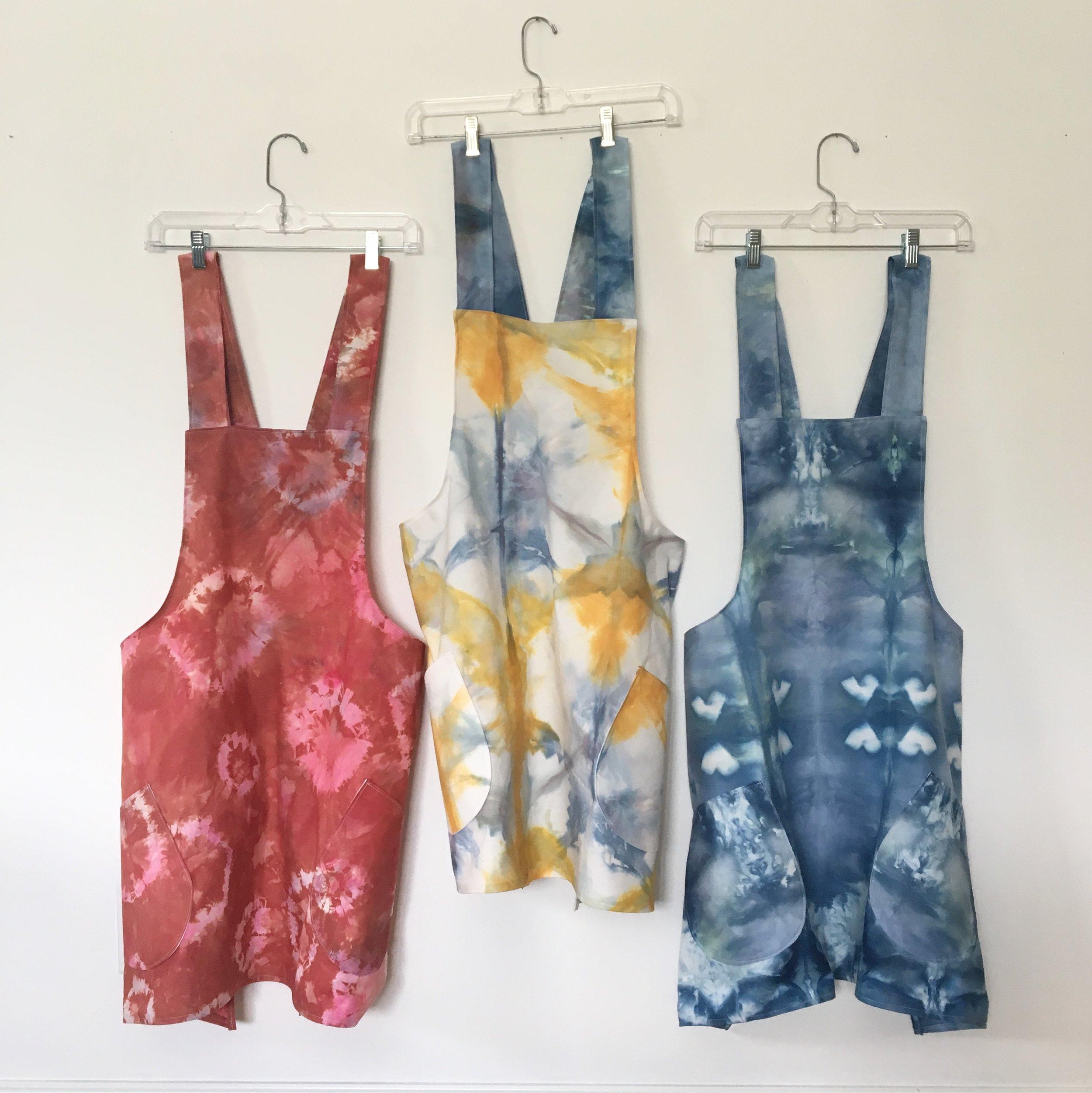 Hand-dyed Cross Back Apron - Melissa Everett Textiles • $38