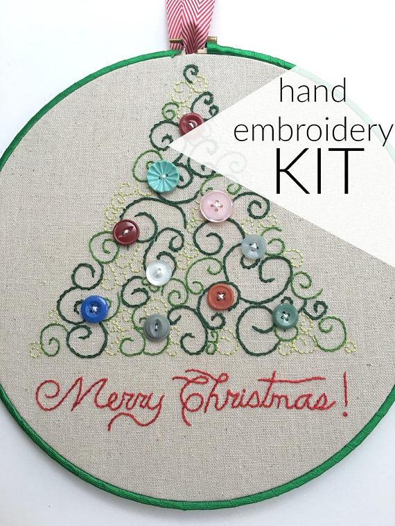 Christmas Hand Embroidery Kit - DaisyEyes Handmade • $14.50
