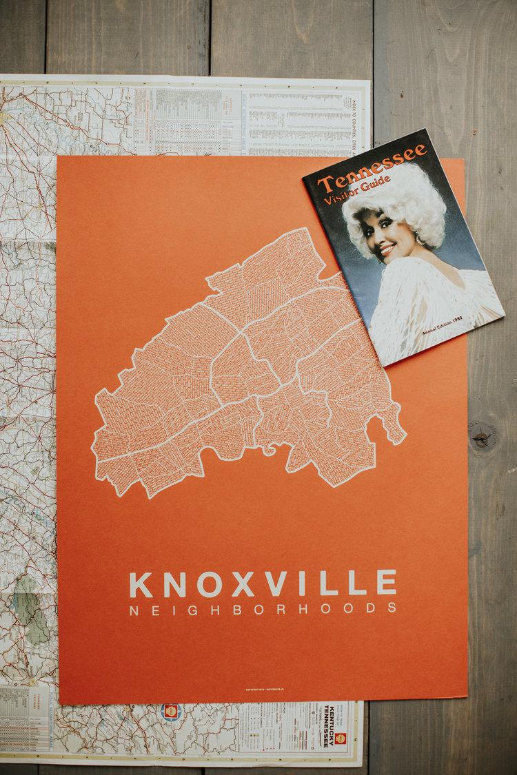 Knoxville Neighborhood Screenprint   - Native Maps • $30