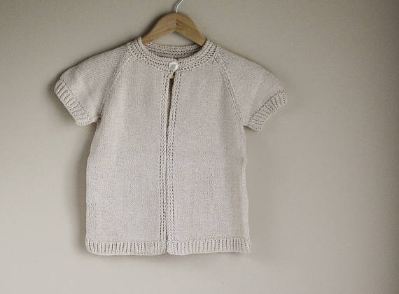 Children's Knitted Pima Cotton Sweater    - Sweet Pea Toad Tots • $7  5