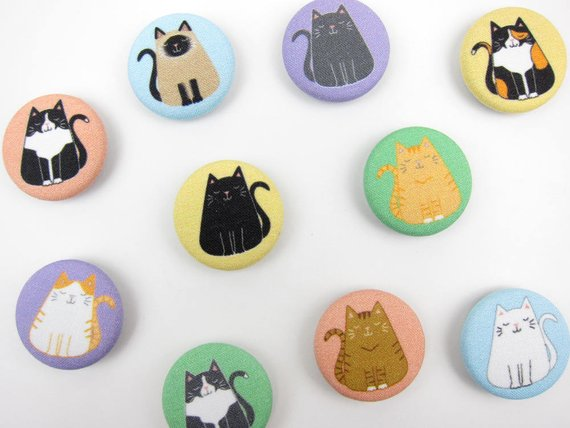 Meghan McCrary • Fat Cat Magnets • $5