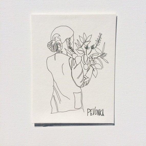 Pevonka Studios • Original Floral Illustration • $12