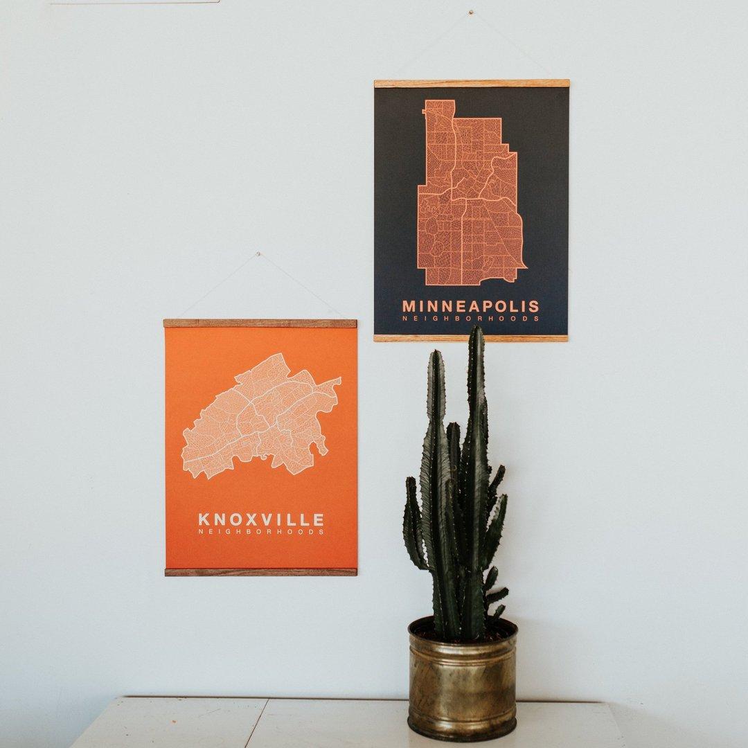 Native Maps • Knoxville Neighborhood Map • $30