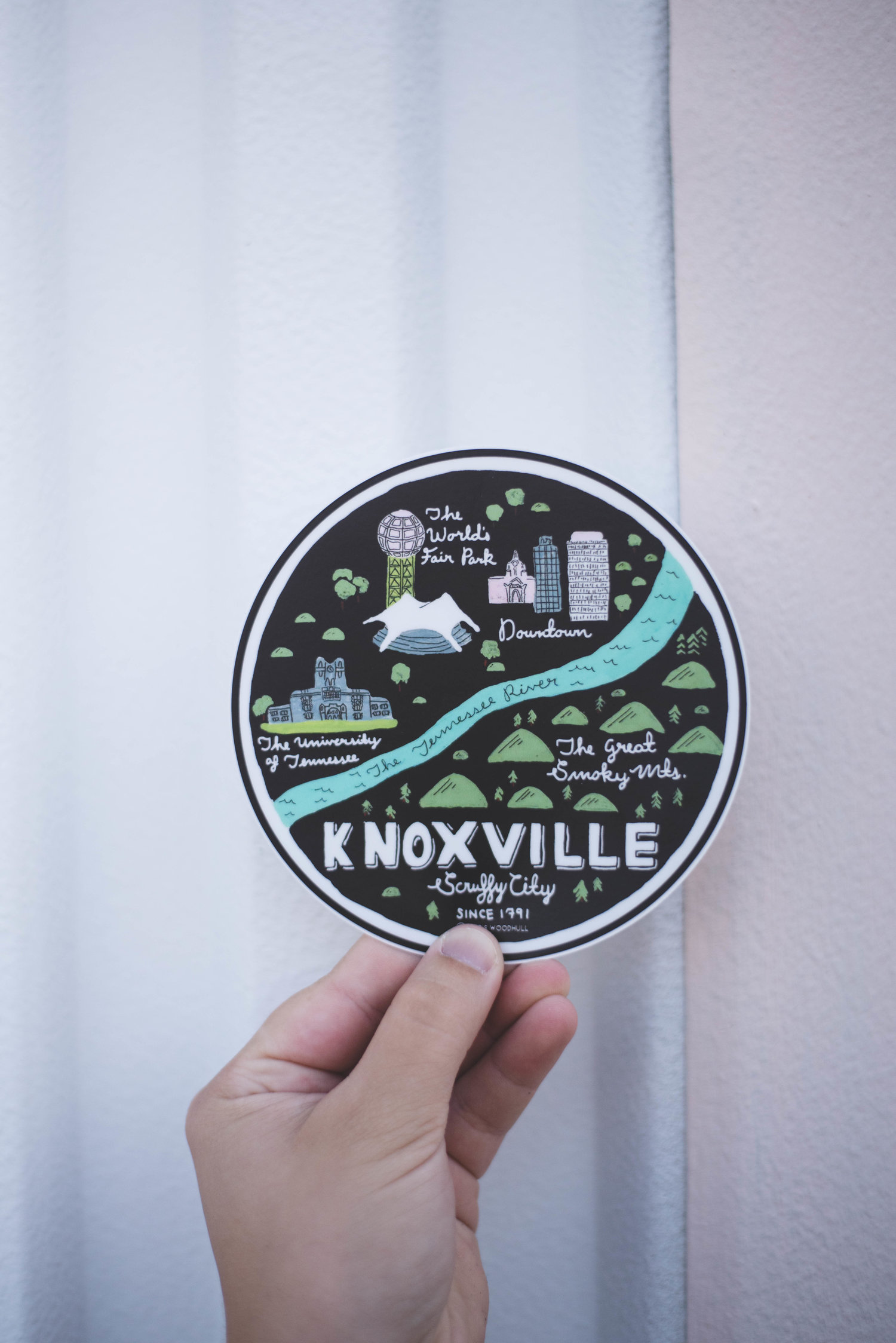 Paris Woodhull Illustrations • Knoxville Sticker • $6.95