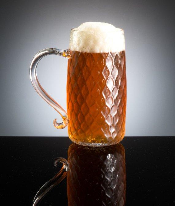 Pretentious Glass Co • Nuevo English Beer Mug • $66